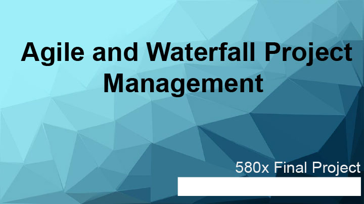 agile and waterfall project managment